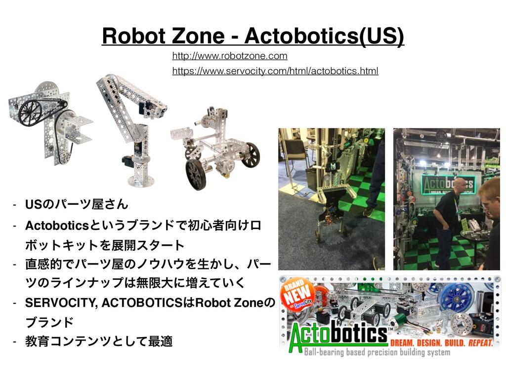 Robot Zone - Actobotics(US) - USͷύʔπ͞Μ! - Acto...