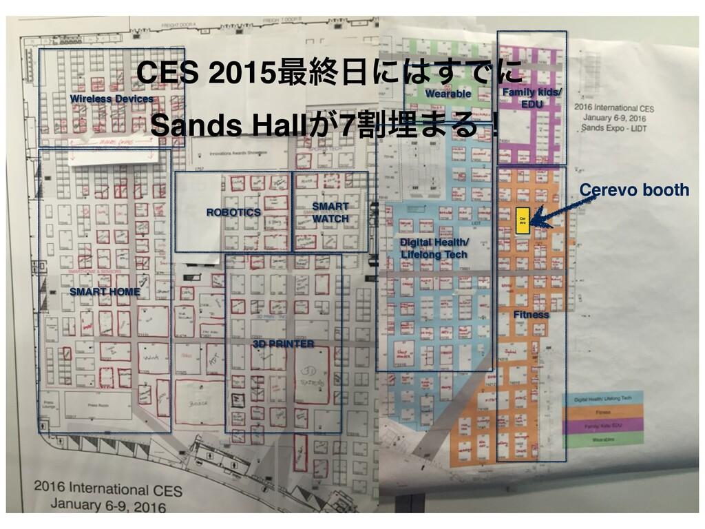 CES 2015࠷ऴʹ͢Ͱʹ! Sands Hall͕7ׂຒ·Δʂ Cer evo SMA...