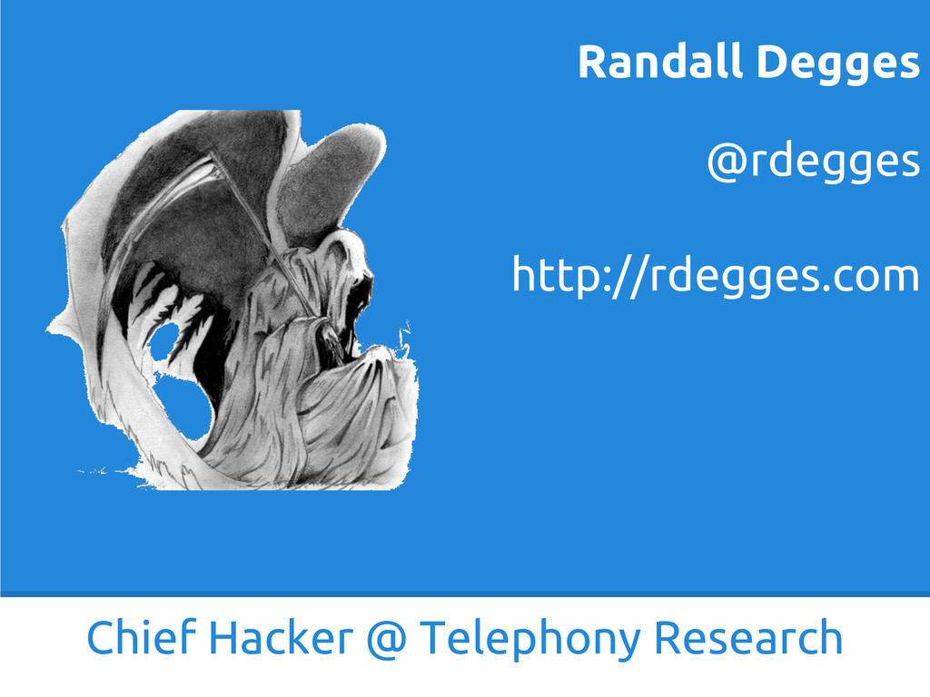 Chief Hacker @ Telephony Research @rdegges http...