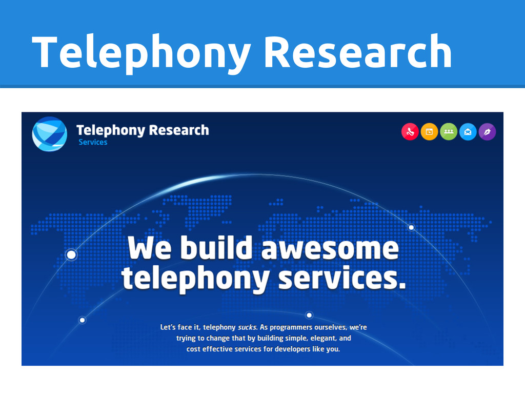 Telephony Research