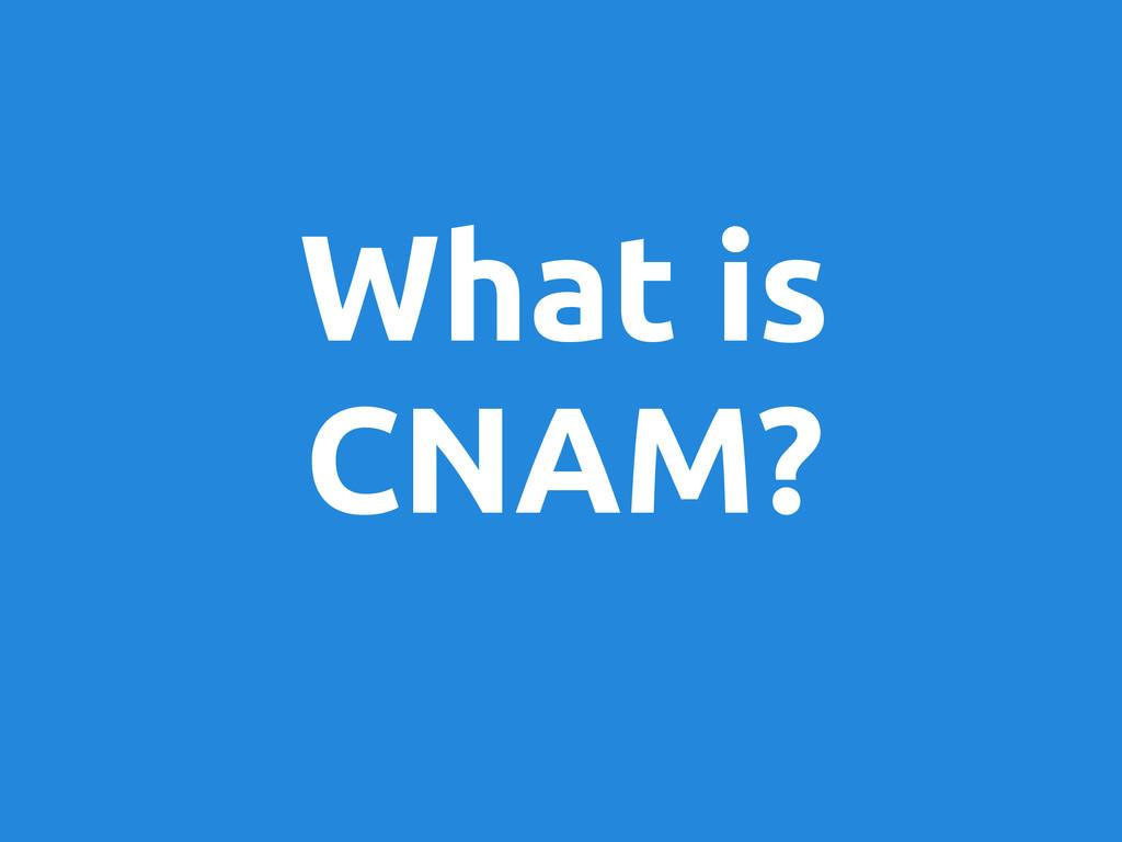 What is CNAM?