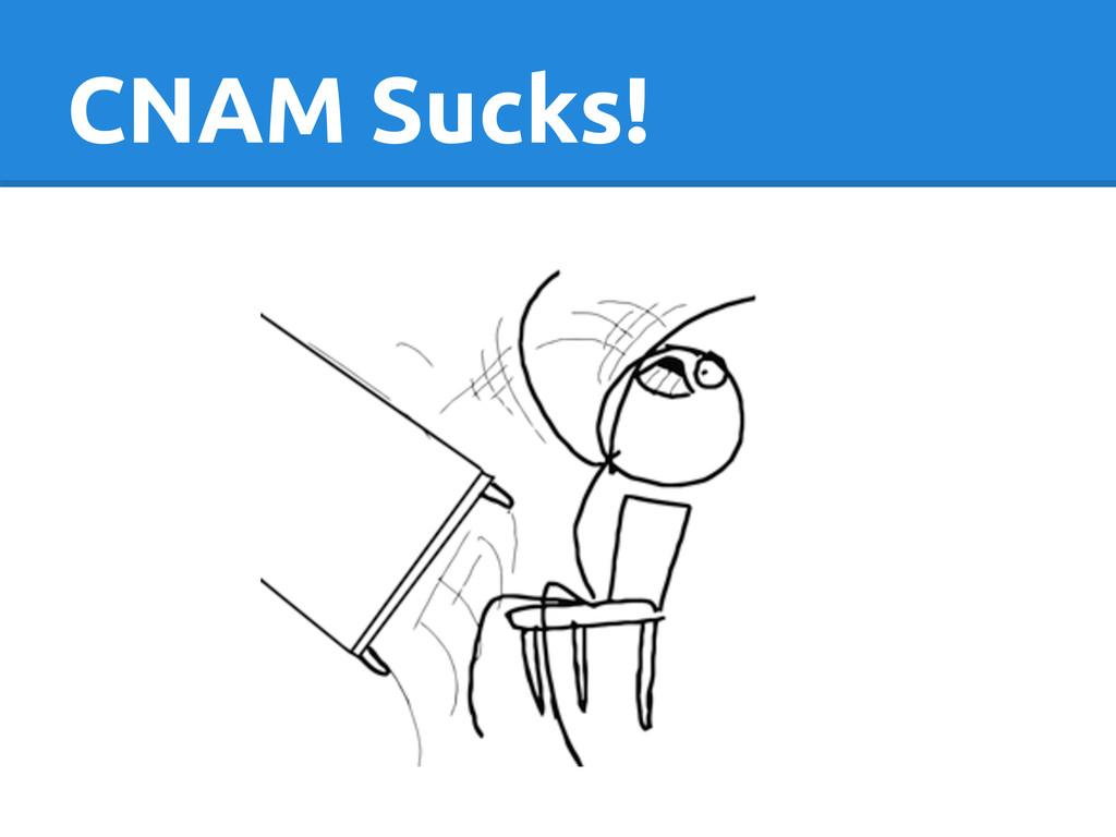 CNAM Sucks!