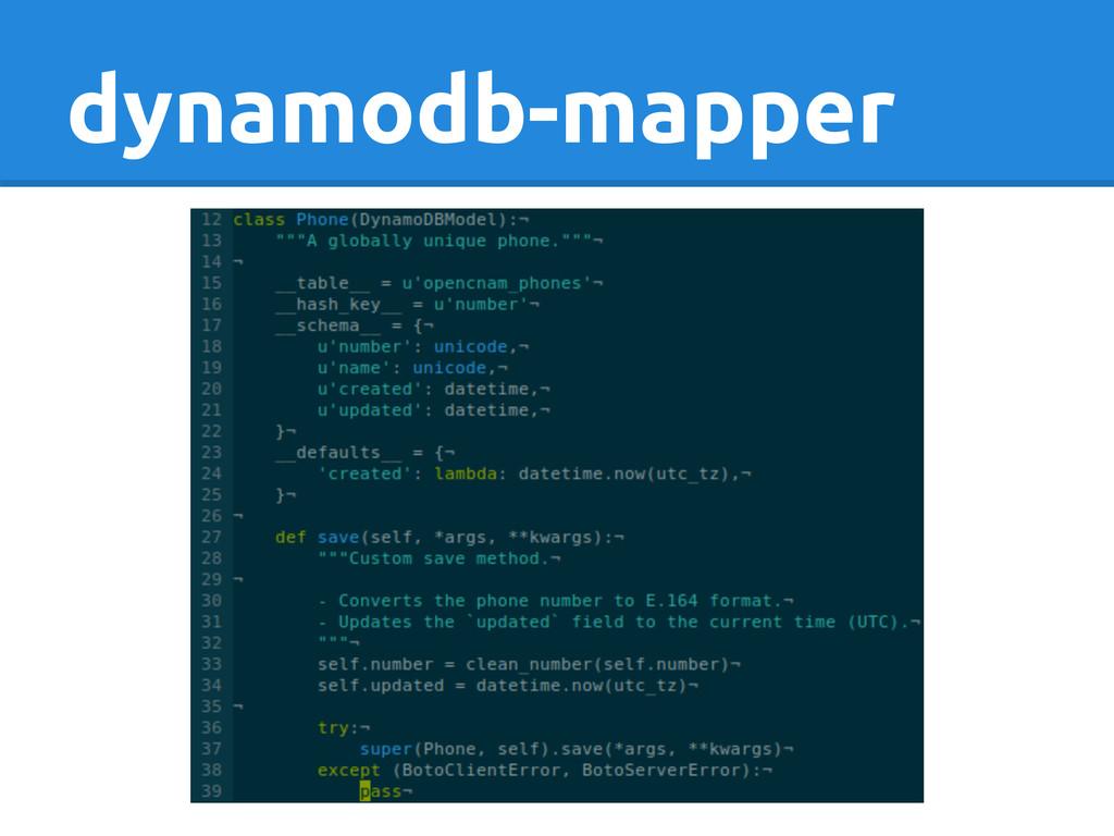 dynamodb-mapper