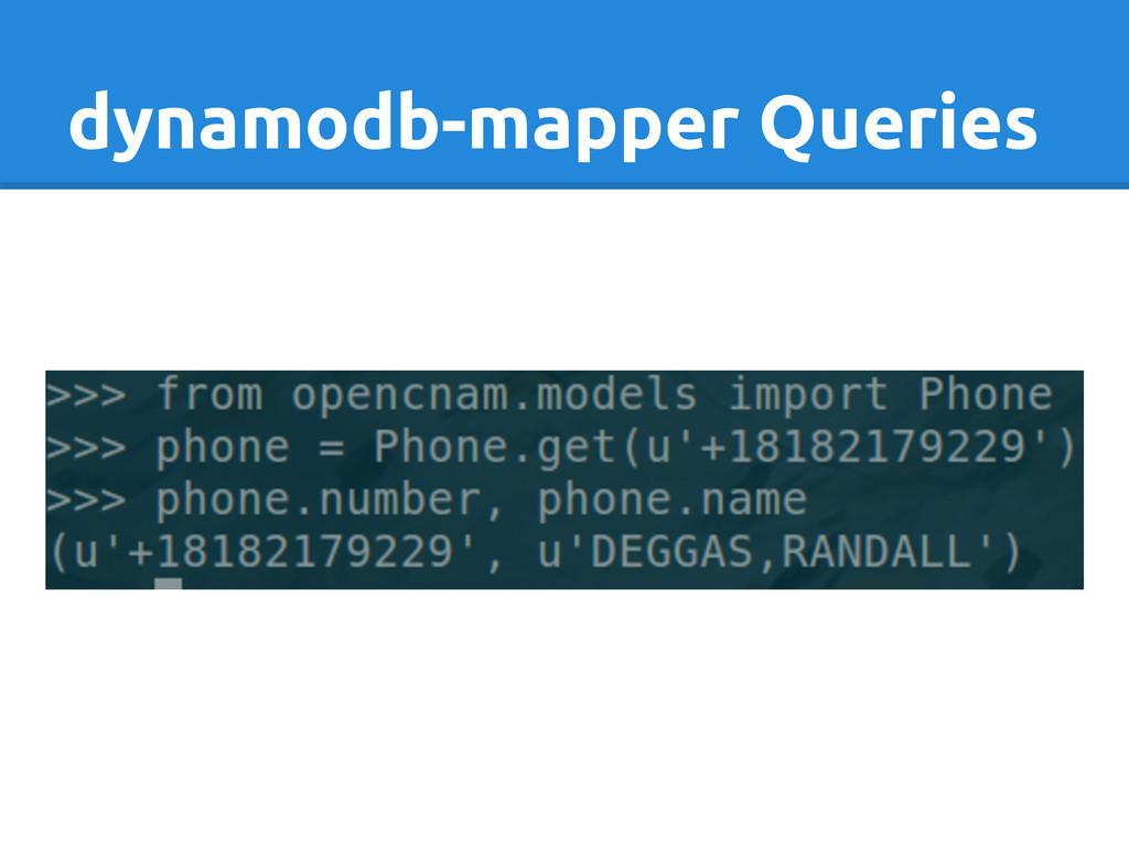dynamodb-mapper Queries