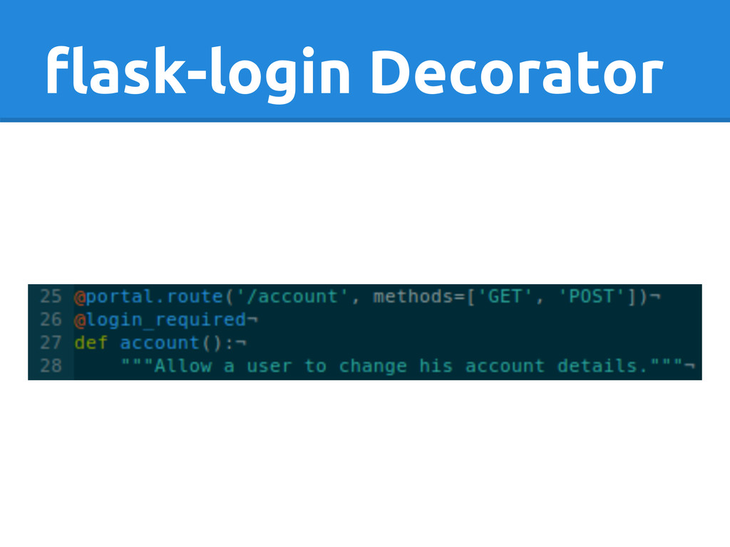 flask-login Decorator