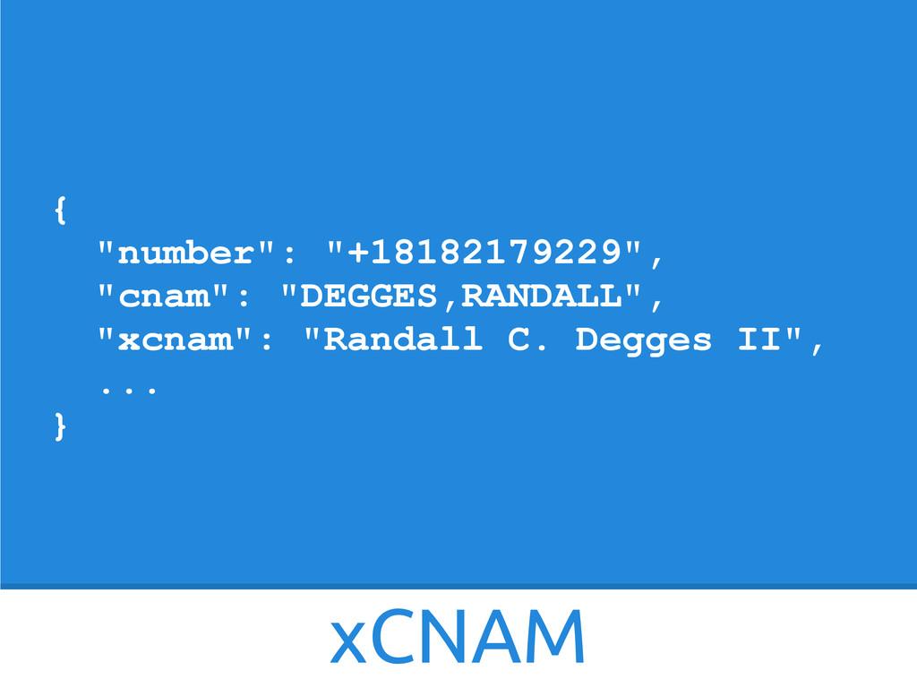 """xCNAM { """"number"""": """"+18182179229"""", """"cnam"""": """"DEGG..."""