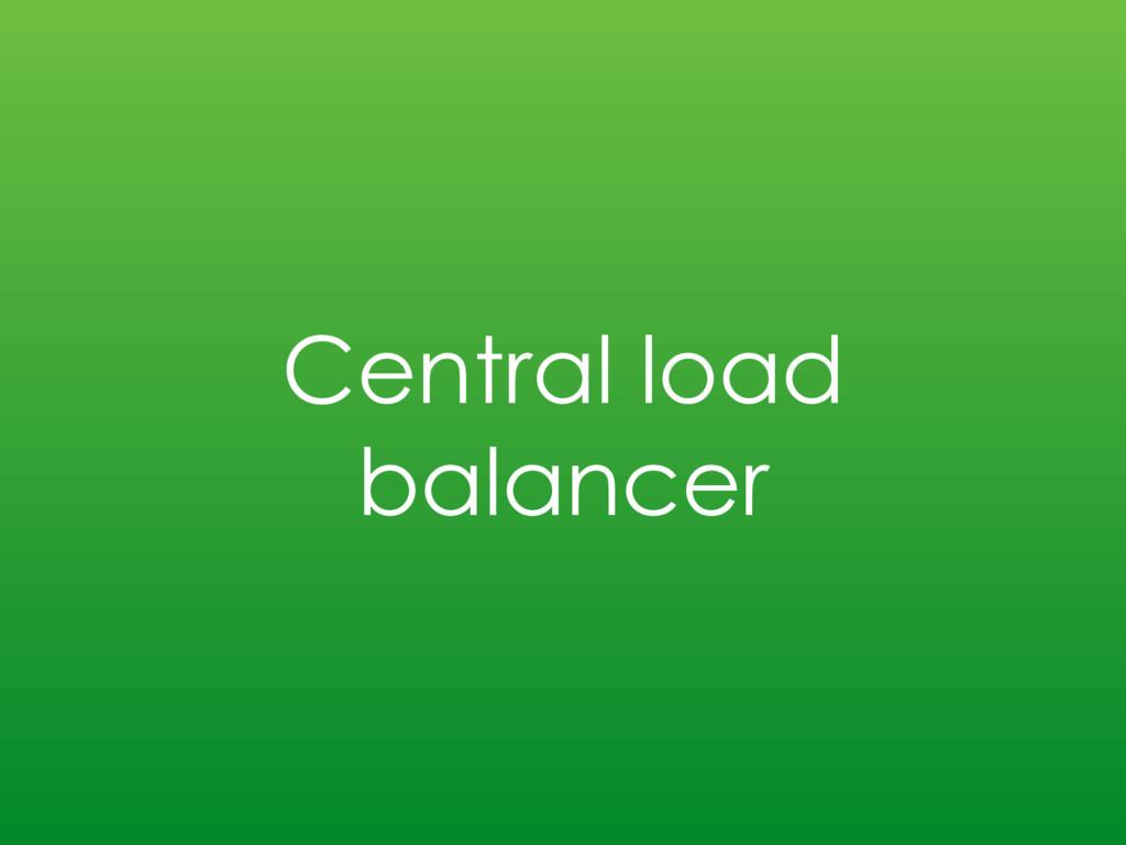 Central load balancer