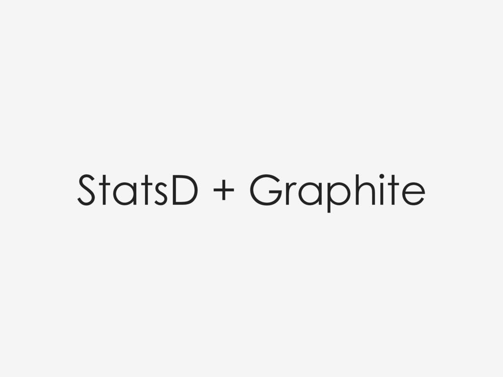 StatsD + Graphite