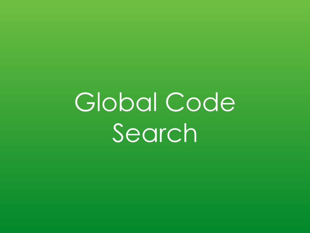 Global Code Search