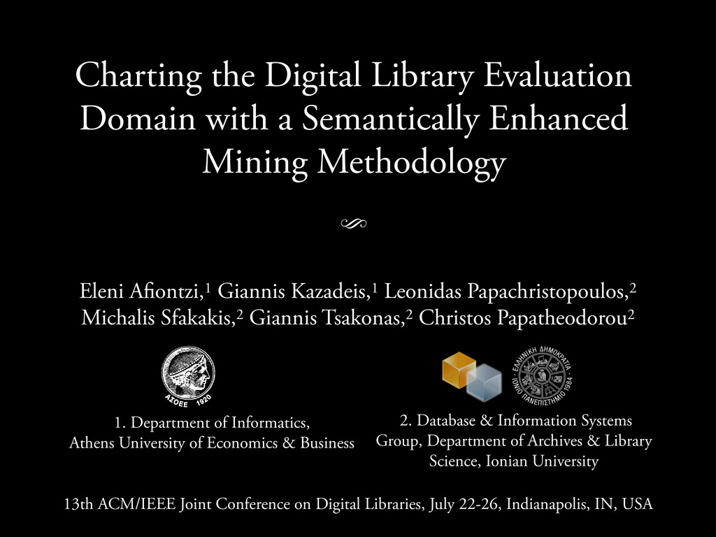 Charting the Digital Library Evaluation Domain ...