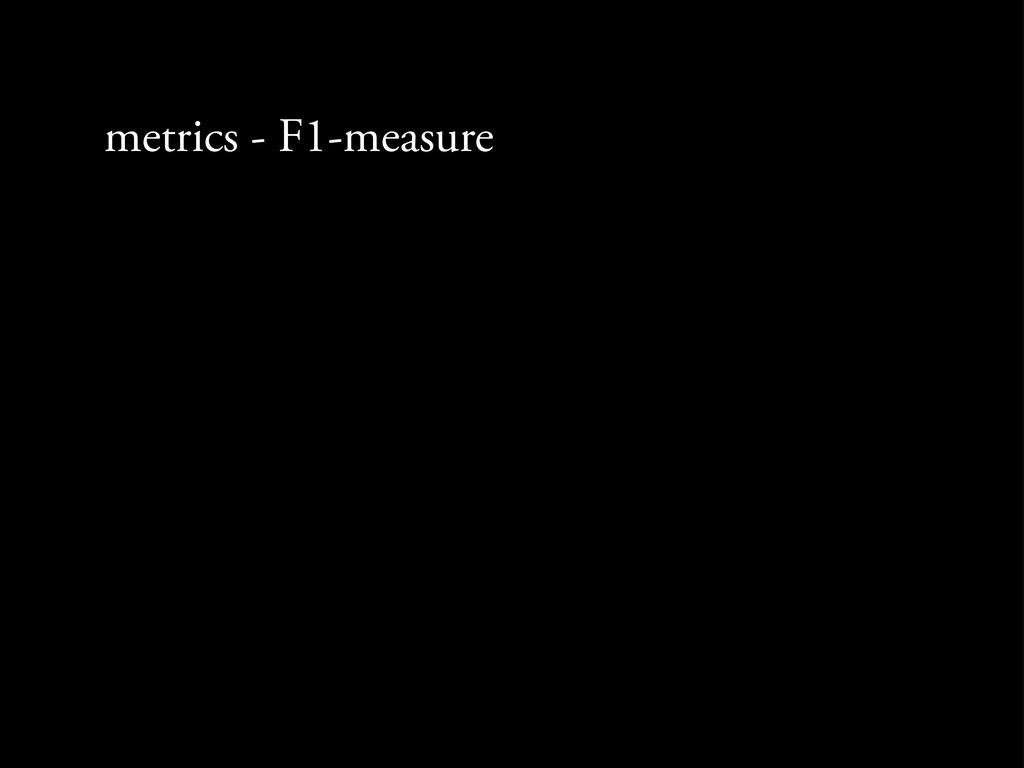metrics - F1-measure