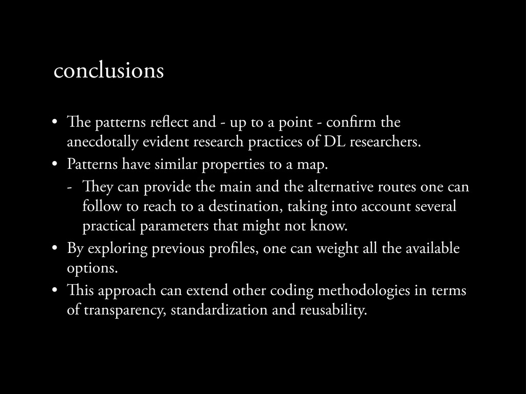 conclusions • e patterns re ect and - up to a ...