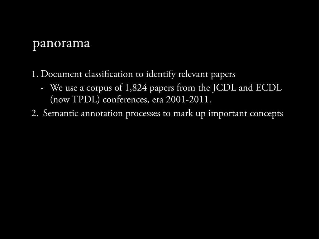 panorama 1. Document classi cation to identify ...