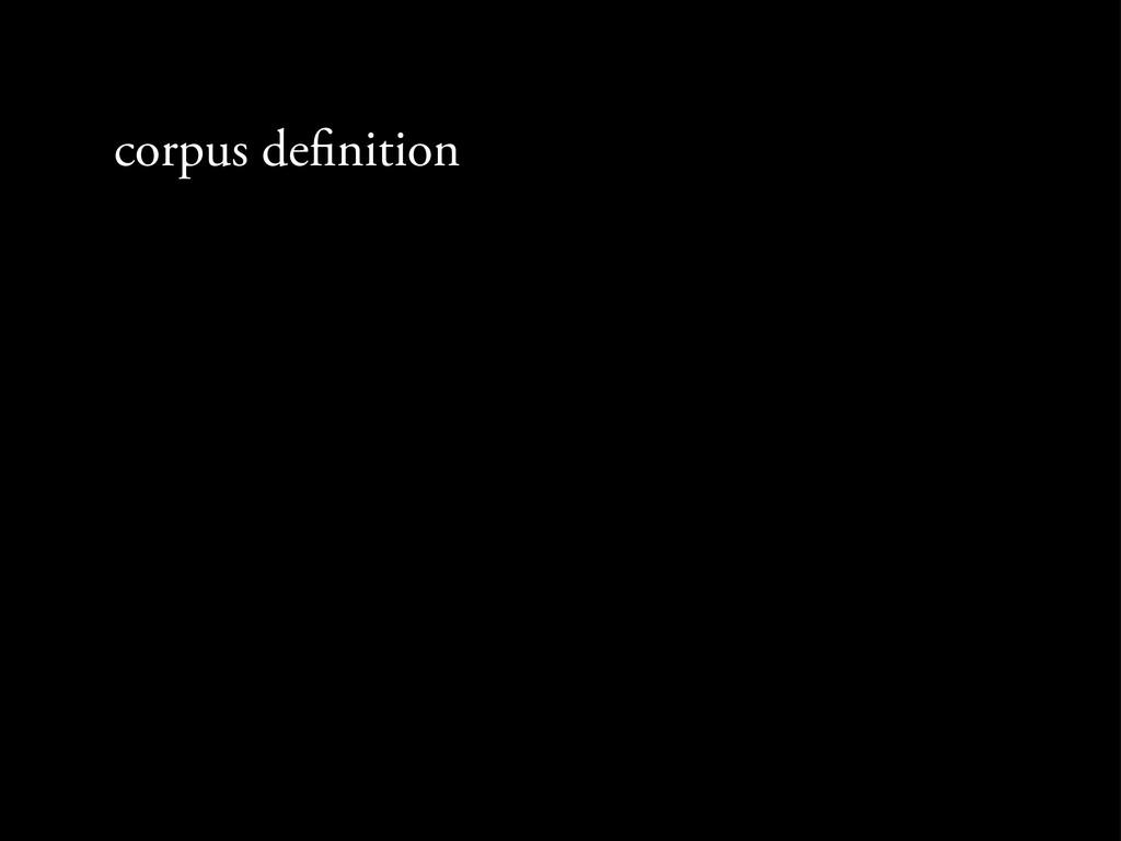 corpus de nition
