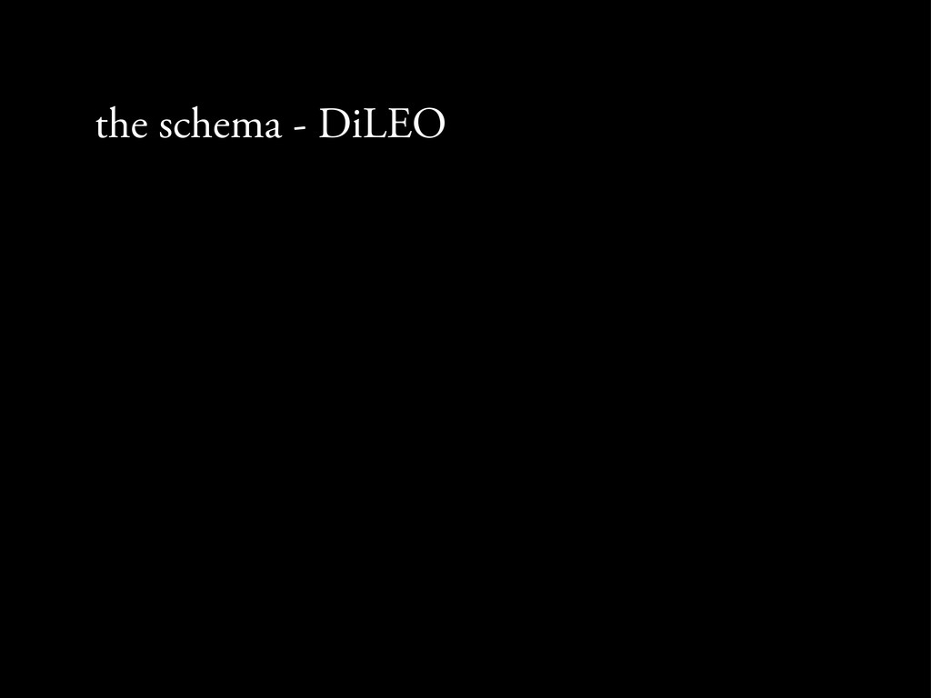 the schema - DiLEO