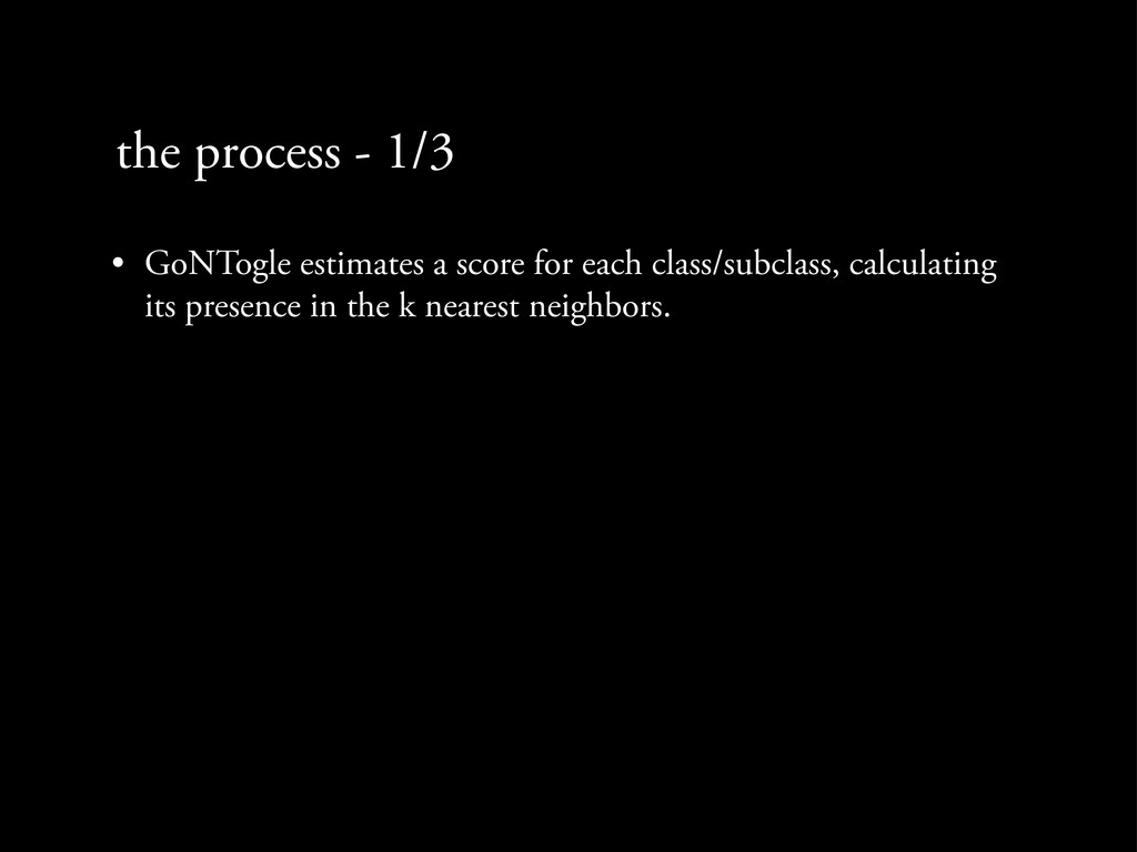 the process - 1/3 • GoNTogle estimates a score ...