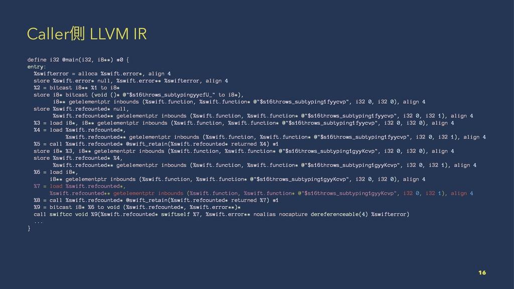 Callerଆ LLVM IR define i32 @main(i32, i8**) #0 ...