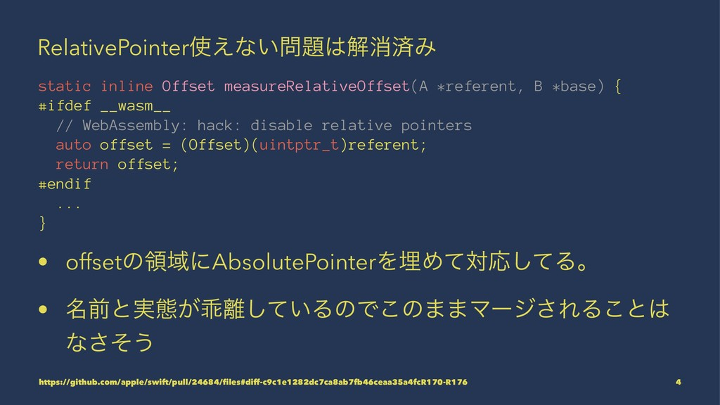RelativePointer͑ͳ͍ղফࡁΈ static inline Offset...