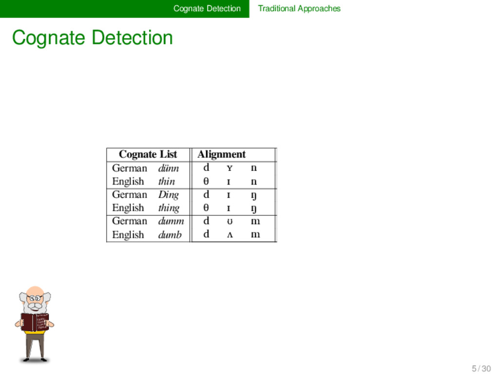 Cognate Detection Traditional Approaches Cognat...