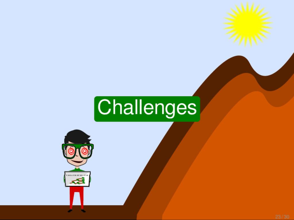 P(A|B)=(P(B|A)P(A))/(P(B) Challenges 23 / 30