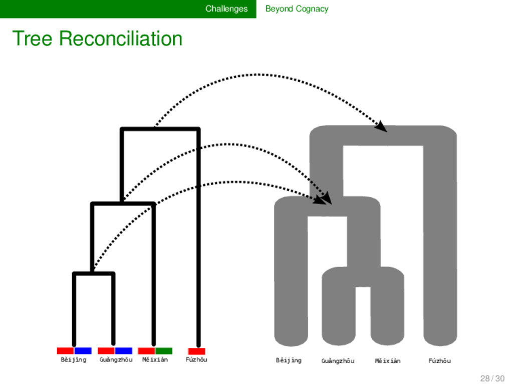 Challenges Beyond Cognacy Tree Reconciliation F...