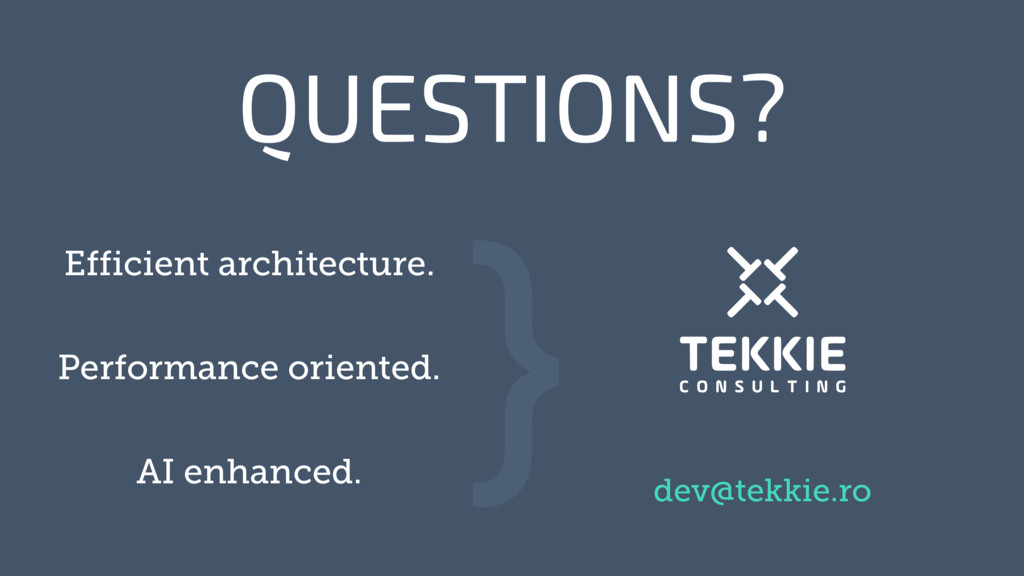 ‹#› QUESTIONS? } Efficient architecture. Perfor...