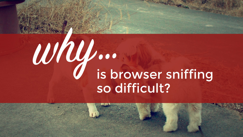 why… is browser sniffing 