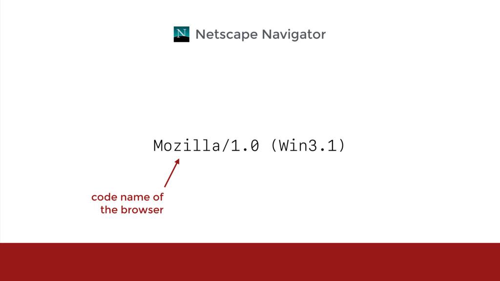 Mozilla/1.0 (Win3.1) Netscape Navigator code na...