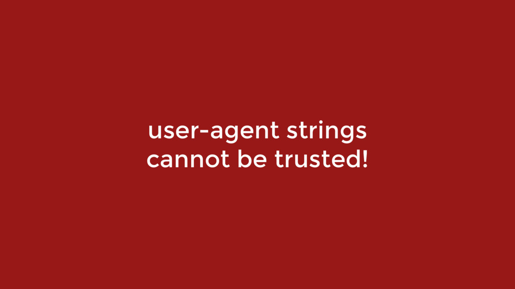 user-agent strings 