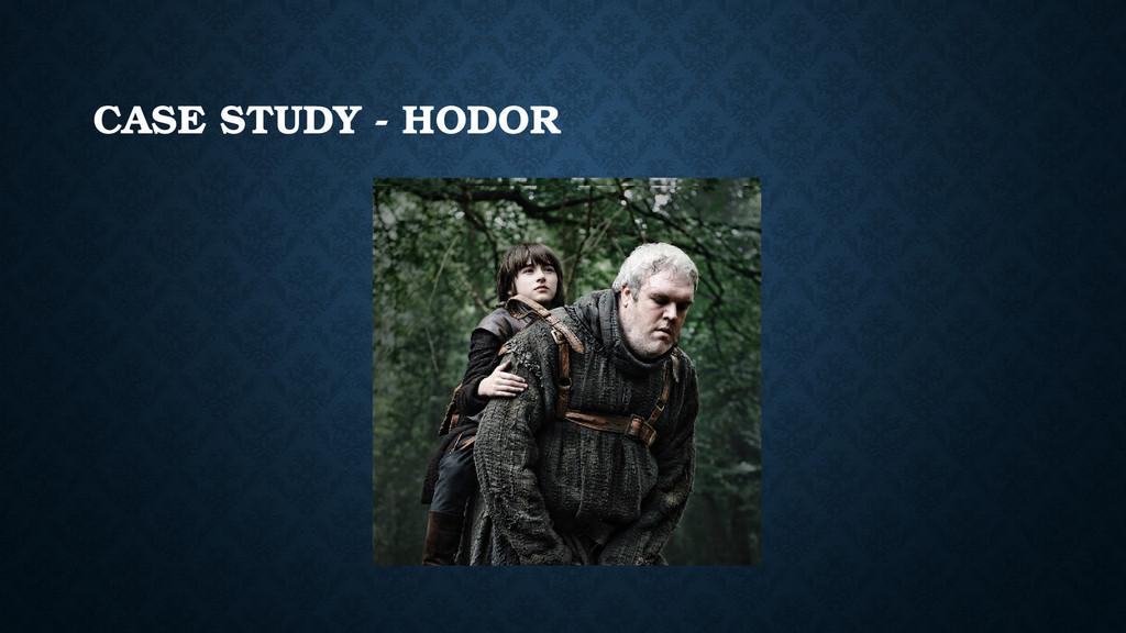 CASE STUDY - HODOR