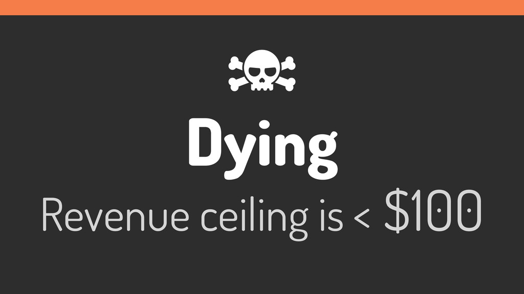Dying Revenue ceiling is < $100