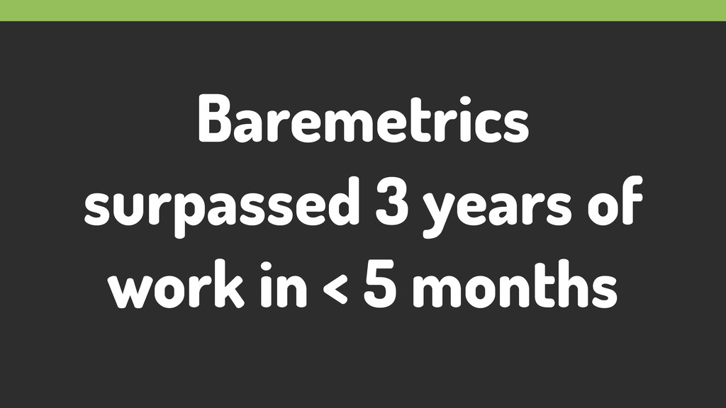 Baremetrics surpassed 3 years of work in < 5 mo...