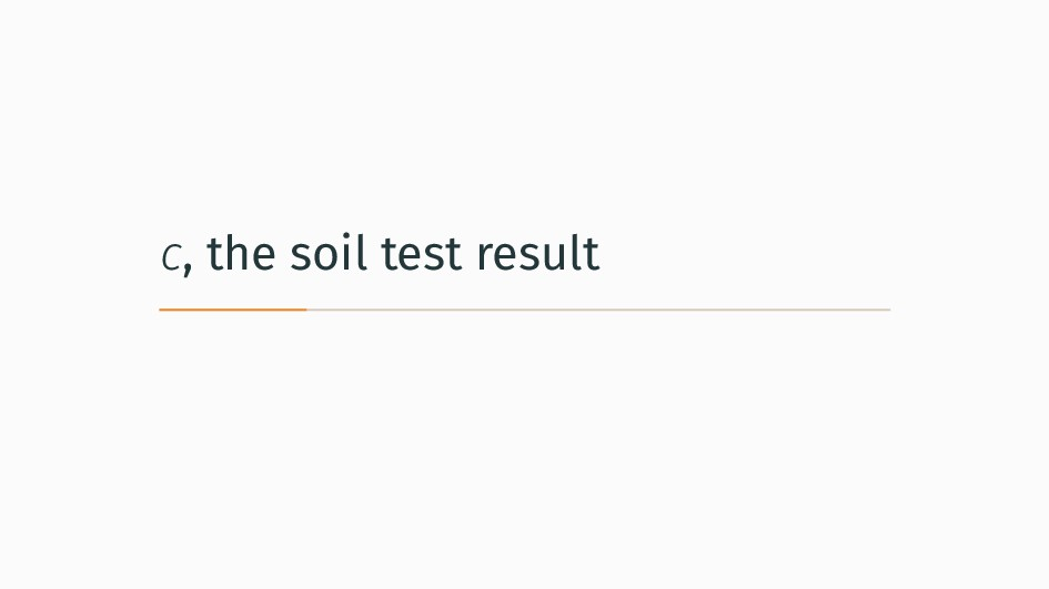 c, the soil test result
