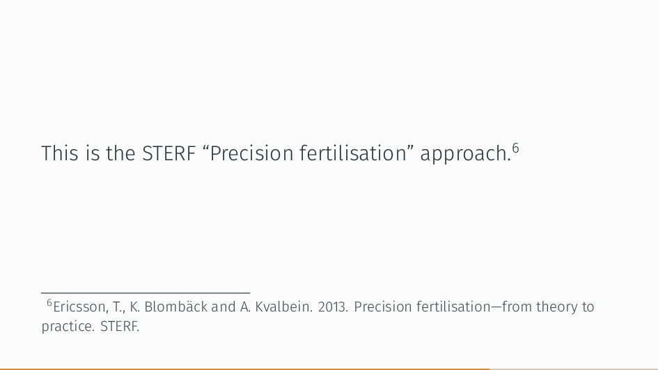 "This is the STERF ""Precision fertilisation"" app..."