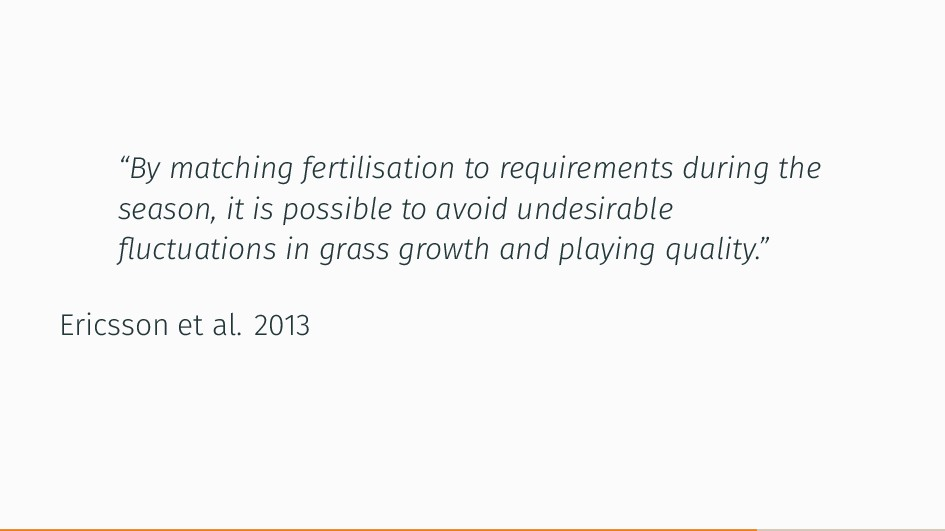 """By matching fertilisation to requirements duri..."