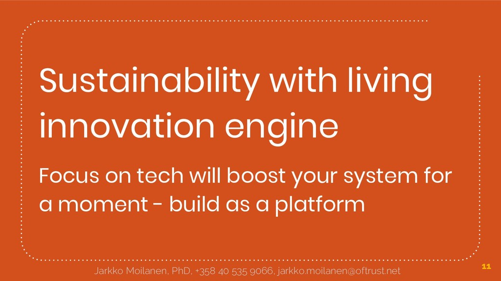 Sustainability with living innovation engine Fo...