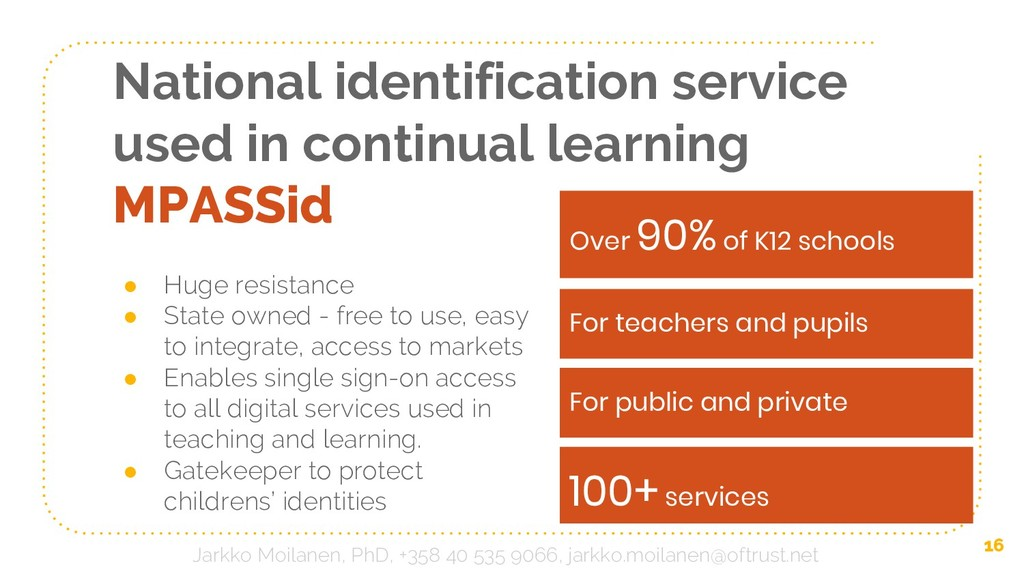 National identification service used in continu...