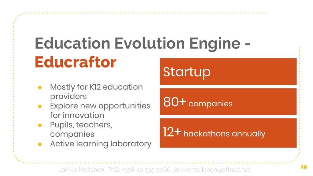 Education Evolution Engine - Educraftor ● Mostl...