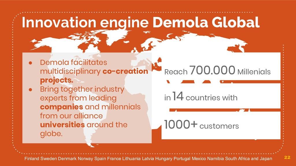 22 Innovation engine Demola Global ● Demola fac...