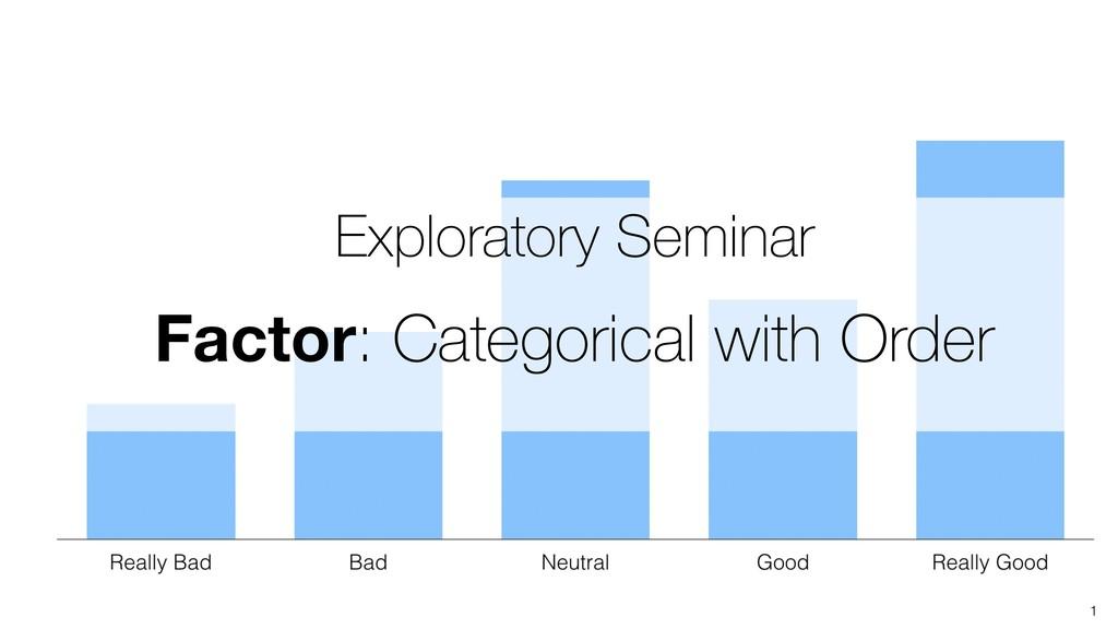 1 Exploratory Seminar Factor: Categorical with ...