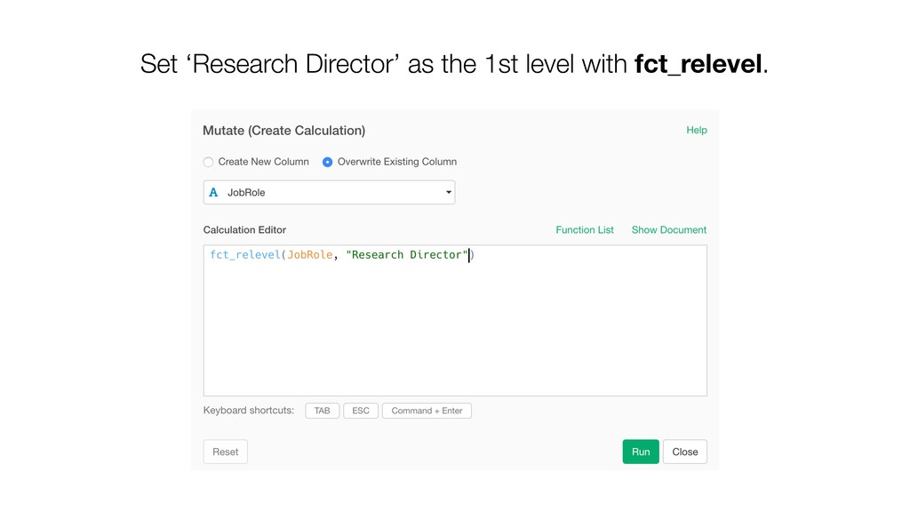 Set 'Research Director' as the 1st level with f...