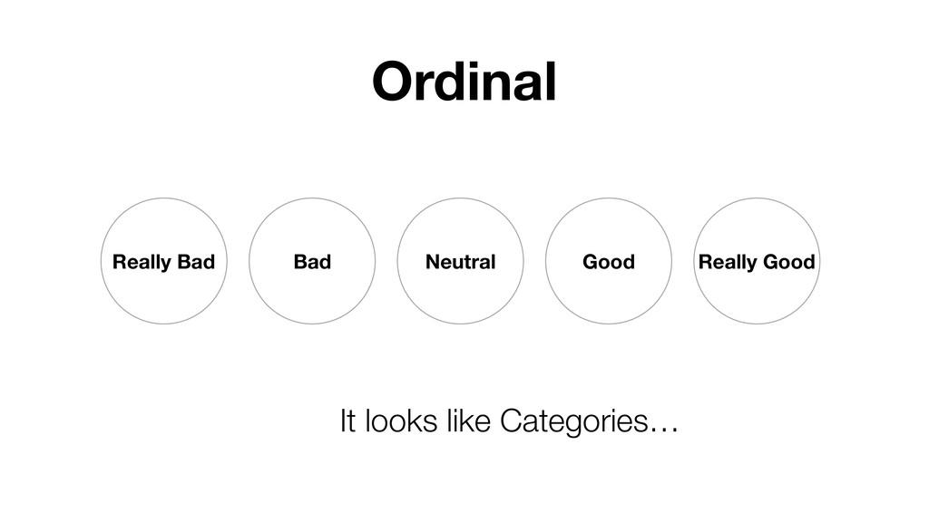 Ordinal Really Bad Bad Neutral Good Really Good...
