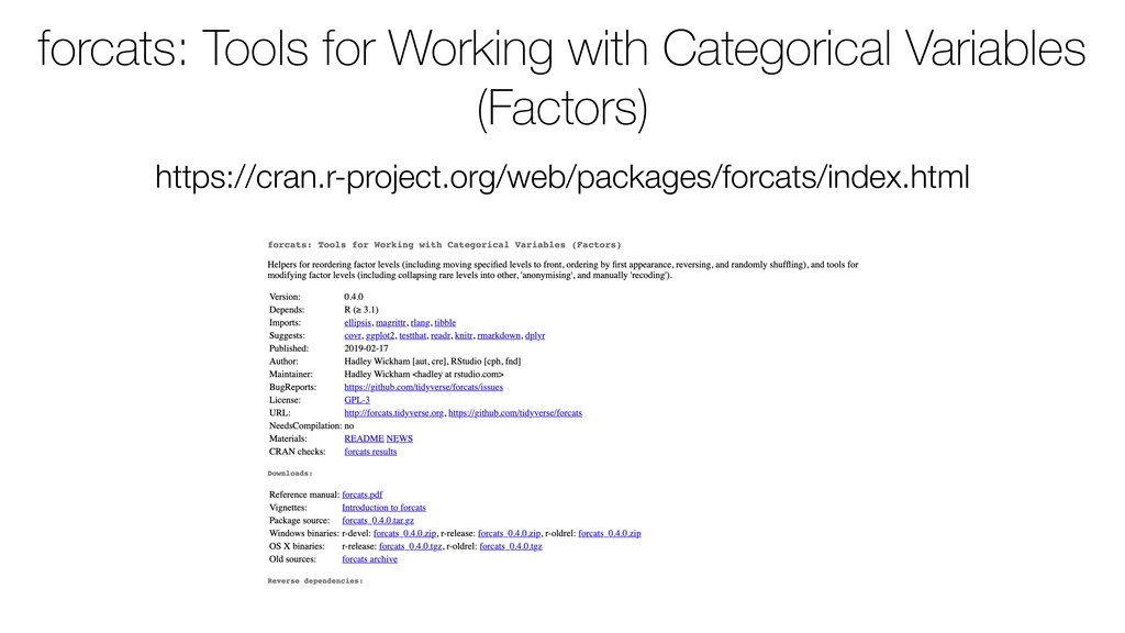 forcats: Tools for Working with Categorical Var...