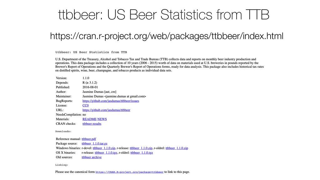 ttbbeer: US Beer Statistics from TTB https://cr...