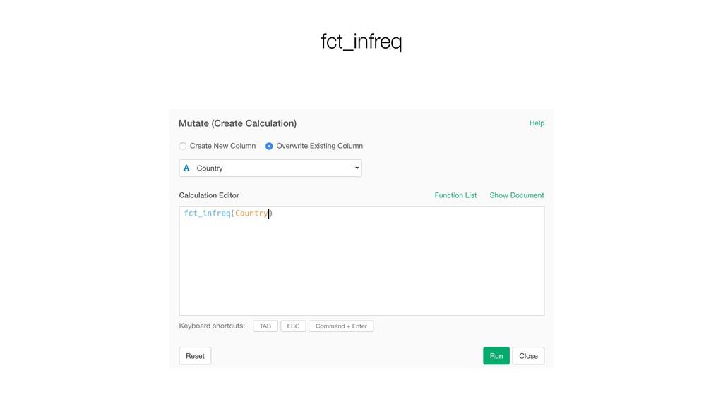 fct_infreq