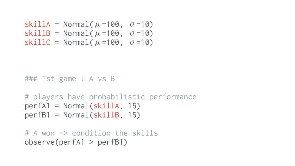 skillA = Normal(μ=100, σ=10) skillB = Normal(μ=...