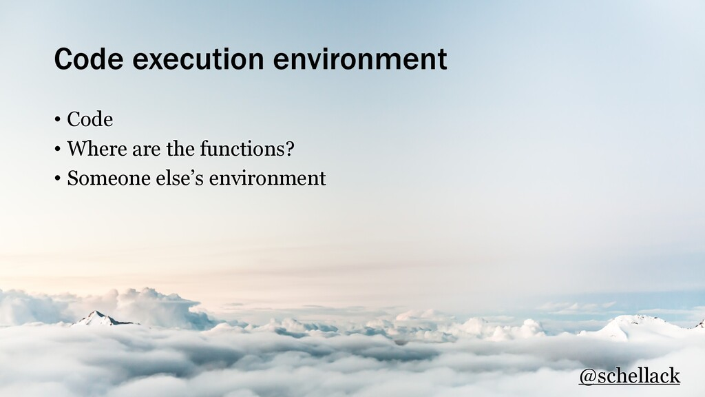 Code execution environment • Code • Where are t...