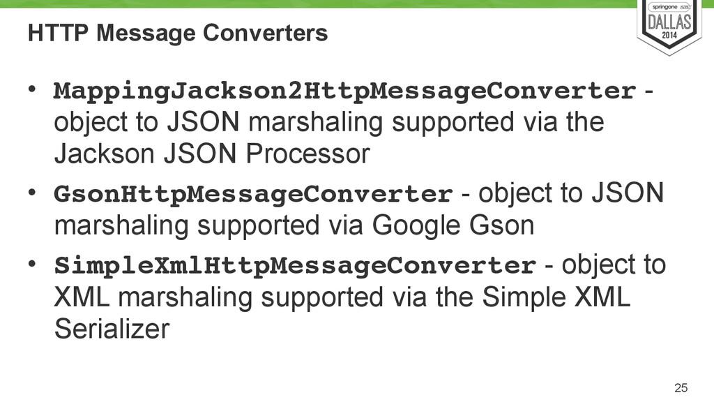HTTP Message Converters • MappingJackson2HttpMe...