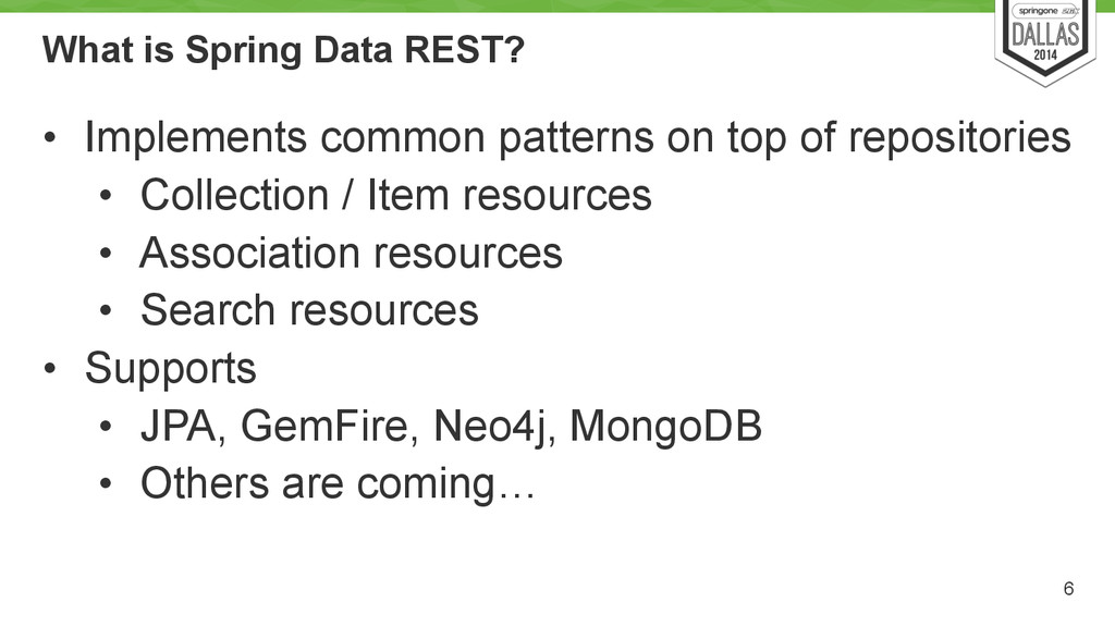 What is Spring Data REST? • Implements common p...