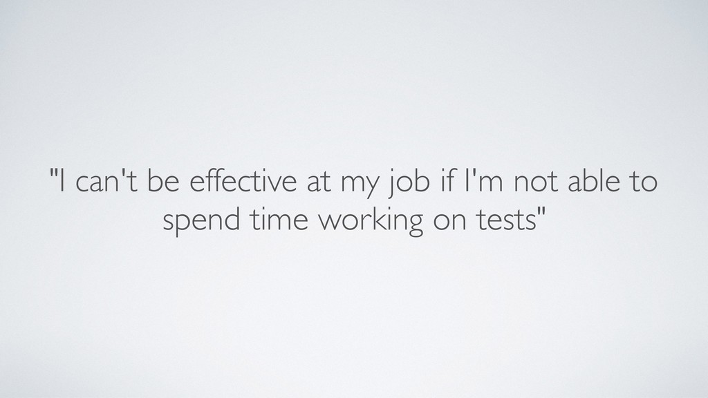 """I can't be effective at my job if I'm not able..."